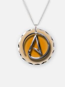 Atheist Logo (orange) Necklace