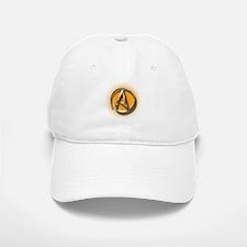 Atheist Logo (orange) Baseball Baseball Cap