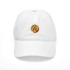 Atheist Logo (orange) Baseball Cap