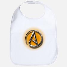 Atheist Logo (orange) Bib