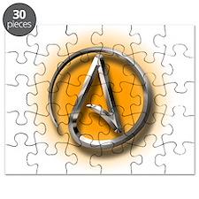 Atheist Logo (orange) Puzzle