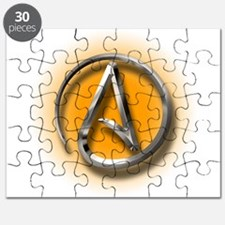 Atheist Logo (orange) Puzzle