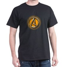 Atheist Logo (orange) T-Shirt