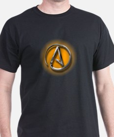 Atheist Logo (orange) T-Shirt