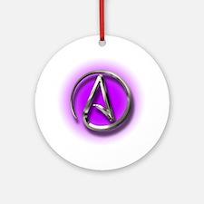 Atheist Logo (purple) Ornament (Round)