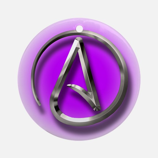 Atheist Logo (purple) Ornament (Round)