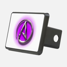 Atheist Logo (purple) Hitch Cover