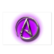 Atheist Logo (purple) Postcards (Package of 8)