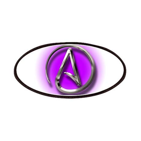 Atheist Logo (purple) Patches