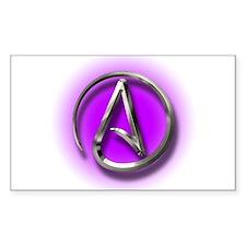 Atheist Logo (purple) Decal