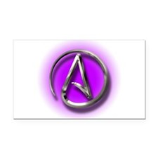 Atheist Logo (purple) Rectangle Car Magnet