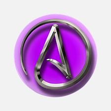 """Atheist Logo (purple) 3.5"""" Button"""