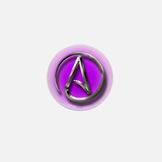 Atheist Logo (purple) Mini Button