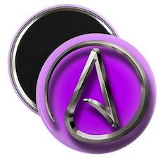 Atheist Logo (purple) Magnet