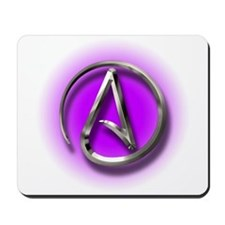 Atheist Logo (purple) Mousepad
