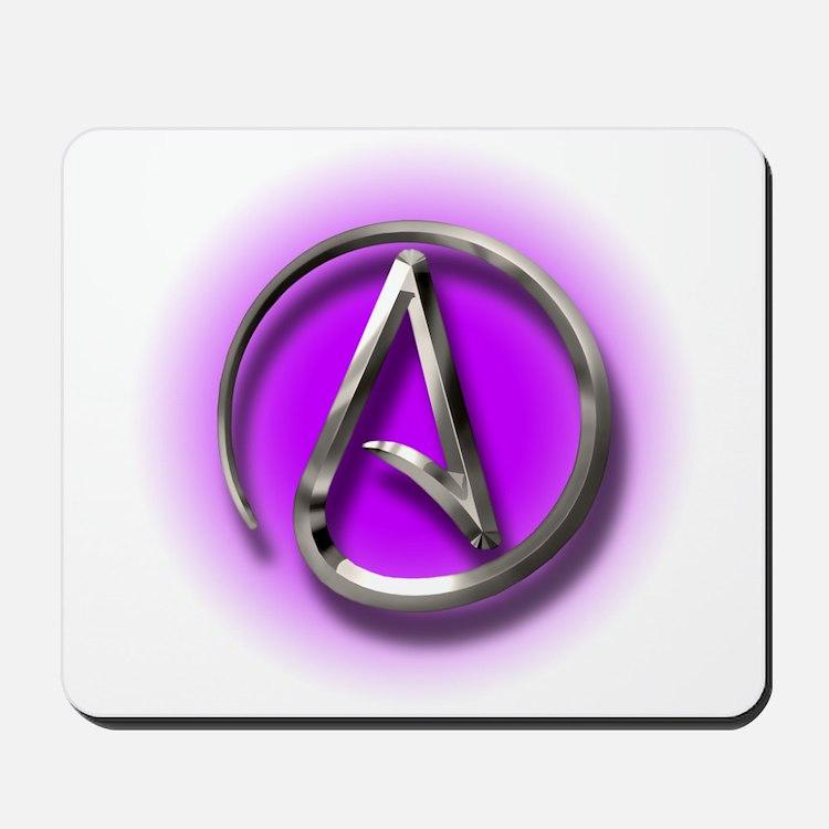 Atheist Logo (purple) Mousepad