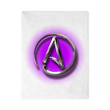 Atheist Logo (purple) Twin Duvet