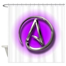 Atheist Logo (purple) Shower Curtain