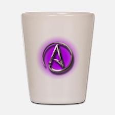 Atheist Logo (purple) Shot Glass