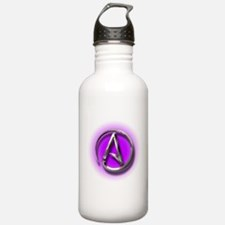 Atheist Logo (purple) Sports Water Bottle