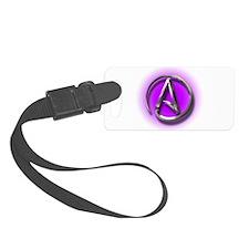 Atheist Logo (purple) Luggage Tag