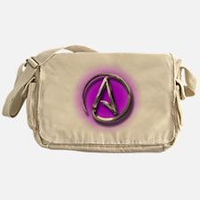 Atheist Logo (purple) Messenger Bag