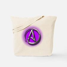 Atheist Logo (purple) Tote Bag
