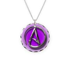 Atheist Logo (purple) Necklace