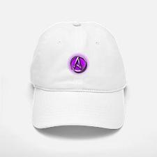 Atheist Logo (purple) Baseball Baseball Cap
