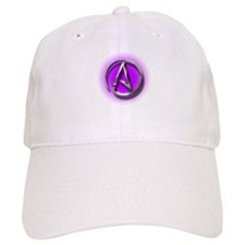 Atheist Logo (purple) Baseball Cap