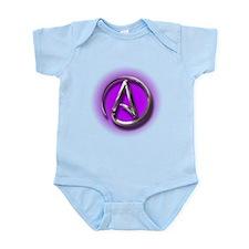 Atheist Logo (purple) Onesie