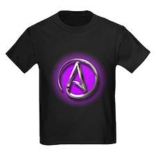 Atheist Logo (purple) T