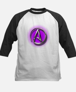 Atheist Logo (purple) Kids Baseball Jersey