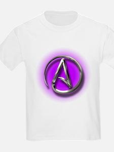 Atheist Logo (purple) T-Shirt