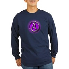 Atheist Logo (purple) T