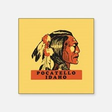 "Pocatello Idaho Square Sticker 3"" x 3"""