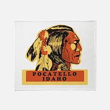 Pocatello Idaho Throw Blanket