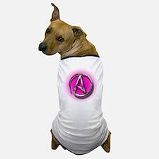 Atheist Logo (pink) Dog T-Shirt