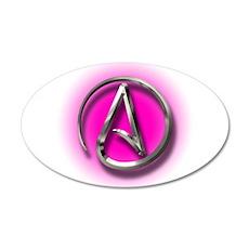 Atheist Logo (pink) Wall Decal