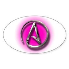 Atheist Logo (pink) Decal