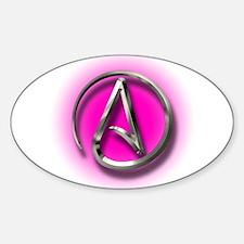 Atheist Logo (pink) Sticker (Oval)