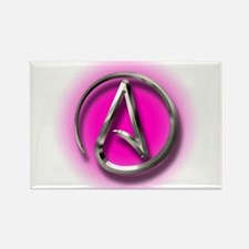 Atheist Logo (pink) Rectangle Magnet