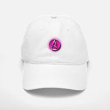 Atheist Logo (pink) Baseball Baseball Cap