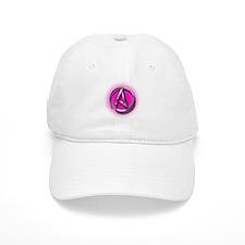 Atheist Logo (pink) Baseball Cap
