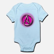 Atheist Logo (pink) Infant Bodysuit