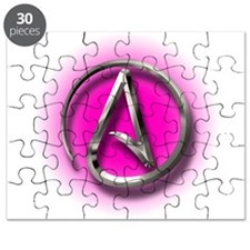 Atheist Logo (pink) Puzzle