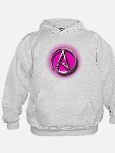 Atheist Logo (pink) Hoodie
