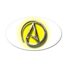 Atheist Logo (yellow) Wall Decal