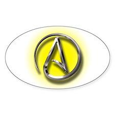 Atheist Logo (yellow) Decal