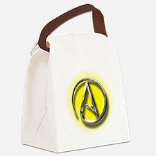 Atheist Logo (yellow) Canvas Lunch Bag
